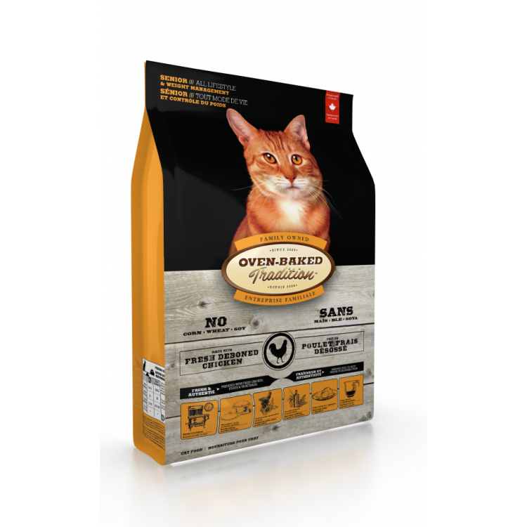 """Oven Baked Tradition Gatos """"Senior & Weight M."""" 2,27 Kg."""