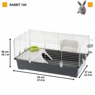 "Kit Jaula Ferplast ""Rabbit 100"" para conejos o cuyes"