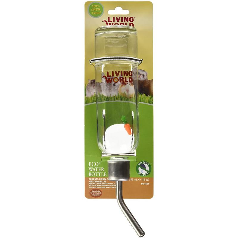 Bebedero Botella Vidrio 177 ml. Living World