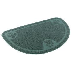 Alfombra Semicírculo verde diseño patitas
