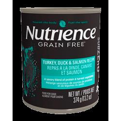 "Nutrience Subzero Grain Free ""Pavo Pato & Salmón"" 374 g. lata / tarro"