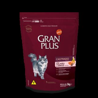 "Gran Plus Gatos Castrados / Esterilizados ""Salmón & Arroz "" 3 Kg"